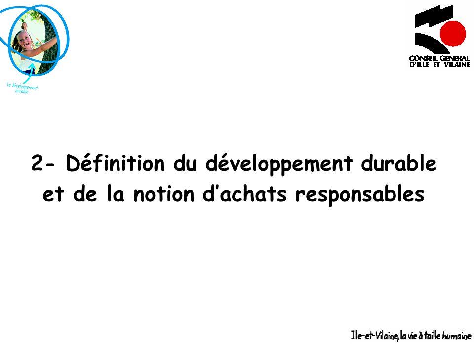 2- Définition du développement durable