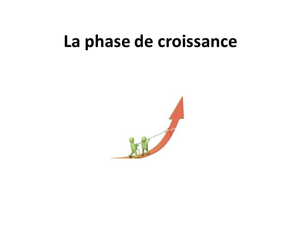 La phase de croissance