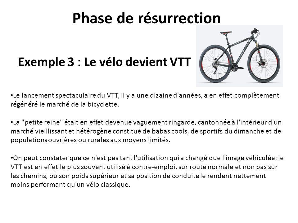 Phase de résurrection Exemple 3 : Le vélo devient VTT