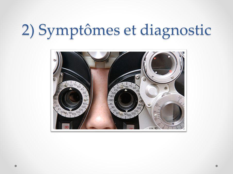 2) Symptômes et diagnostic