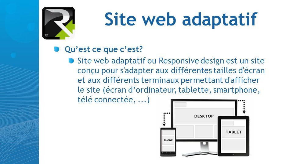 Site web adaptatif Qu'est ce que c'est