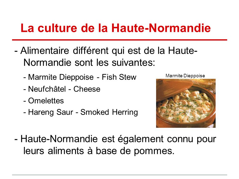 La culture de la Haute-Normandie