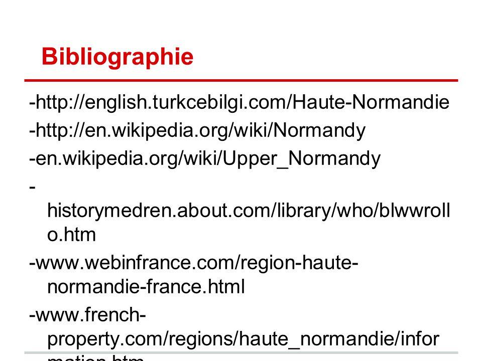 Bibliographie -http://english.turkcebilgi.com/Haute-Normandie