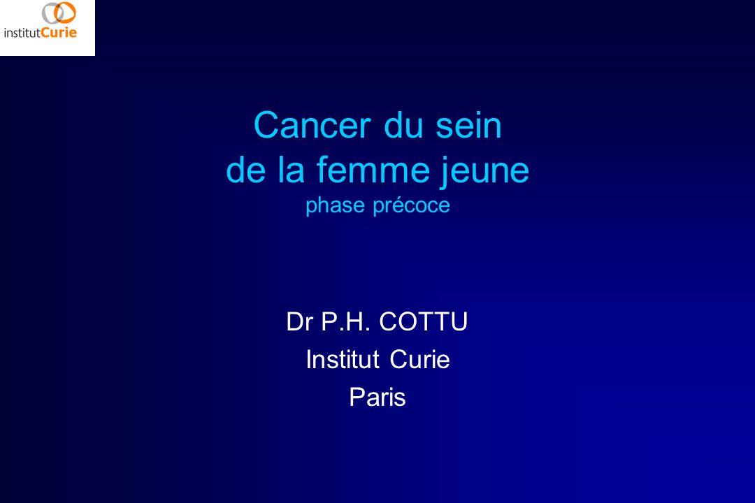 Cancer du sein de la femme jeune phase précoce