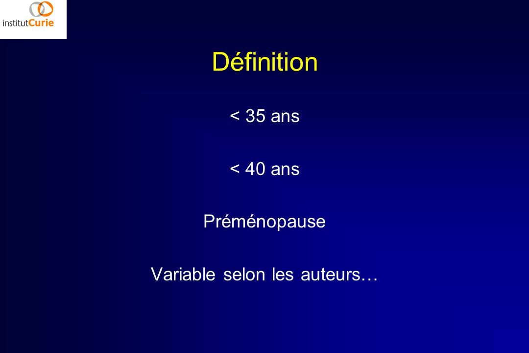 Variable selon les auteurs…
