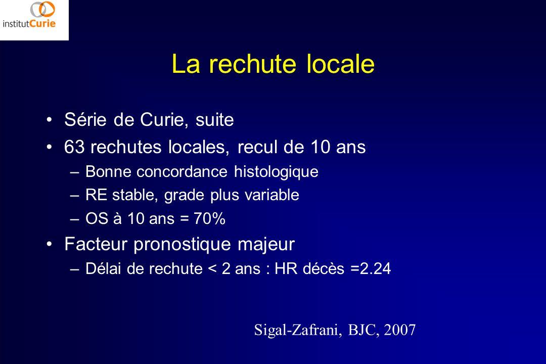 La rechute locale Série de Curie, suite