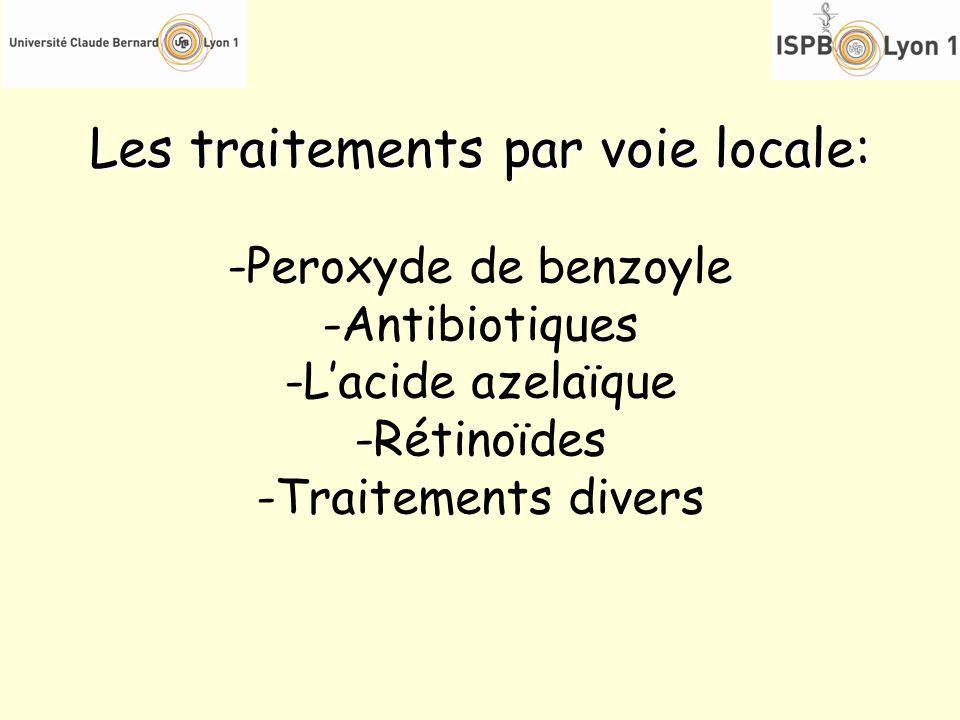 Les traitements par voie locale: