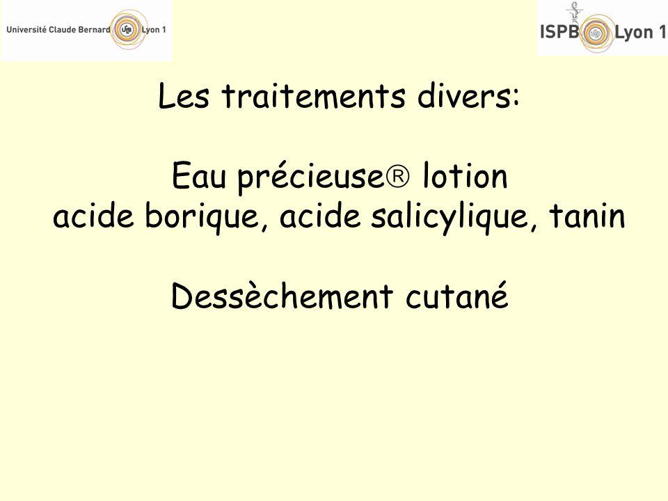 Les traitements divers: Eau précieuse lotion