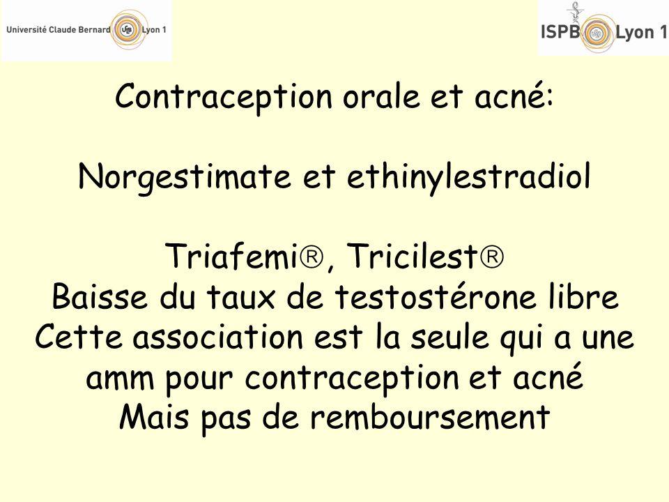 Contraception orale et acné: Norgestimate et ethinylestradiol