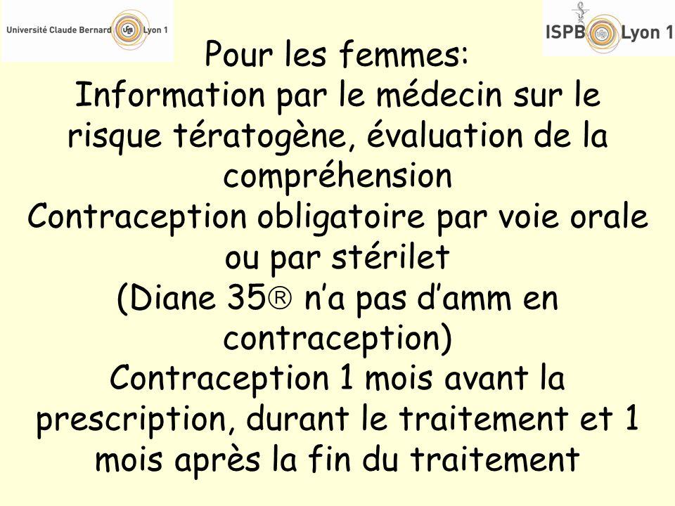 Contraception obligatoire par voie orale ou par stérilet