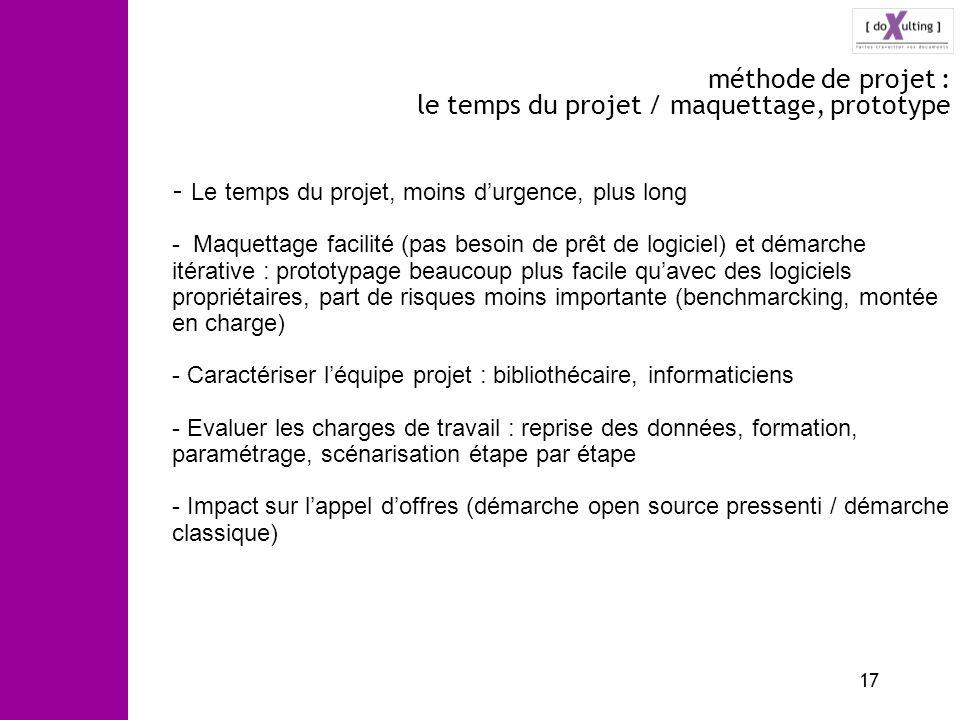 méthode de projet : le temps du projet / maquettage, prototype
