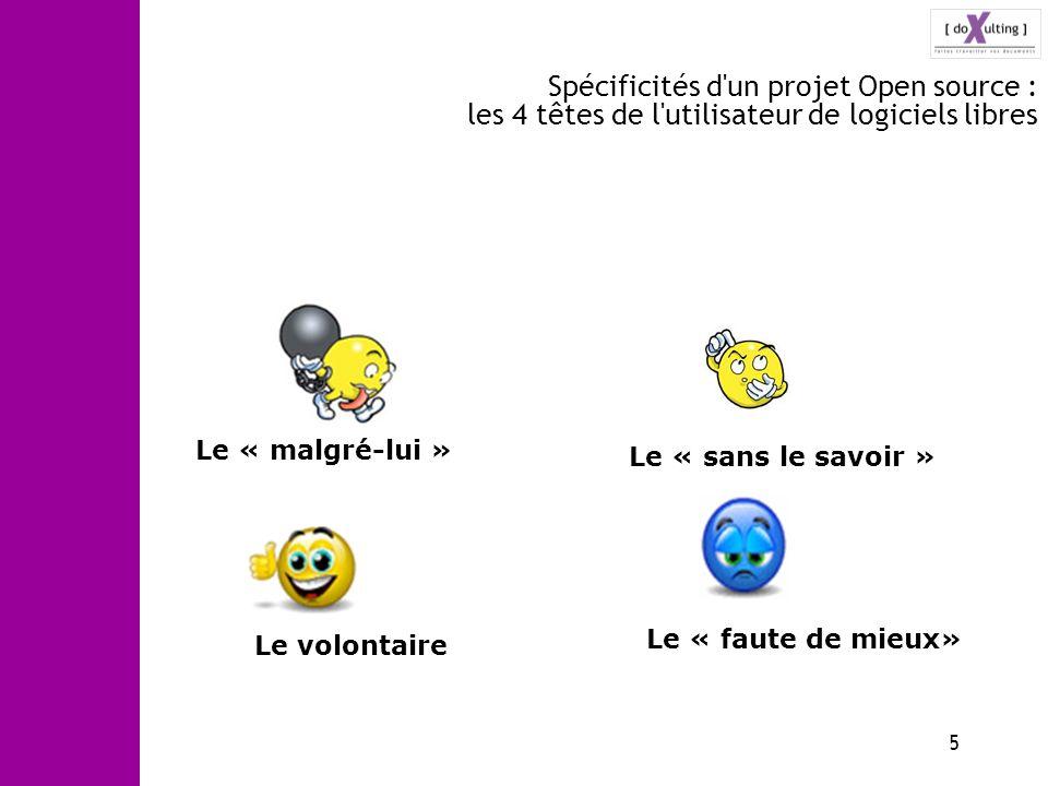Spécificités d un projet Open source : les 4 têtes de l utilisateur de logiciels libres