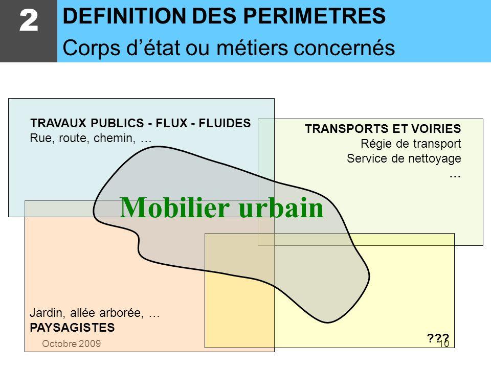 2 Mobilier urbain DEFINITION DES PERIMETRES