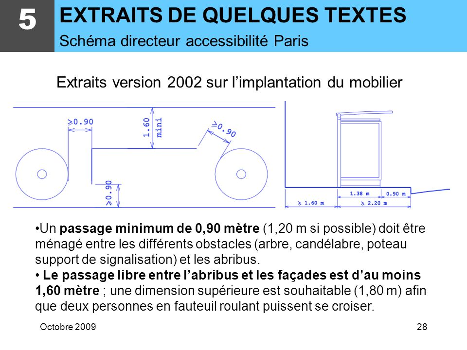 Extraits version 2002 sur l'implantation du mobilier