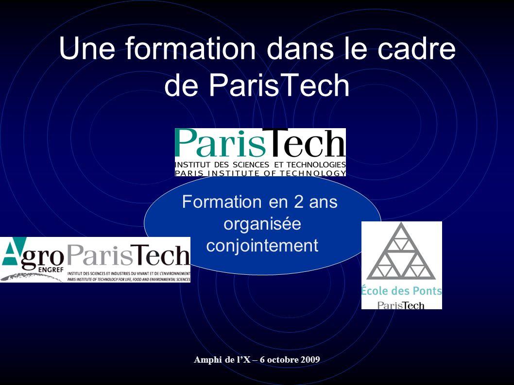 Une formation dans le cadre de ParisTech