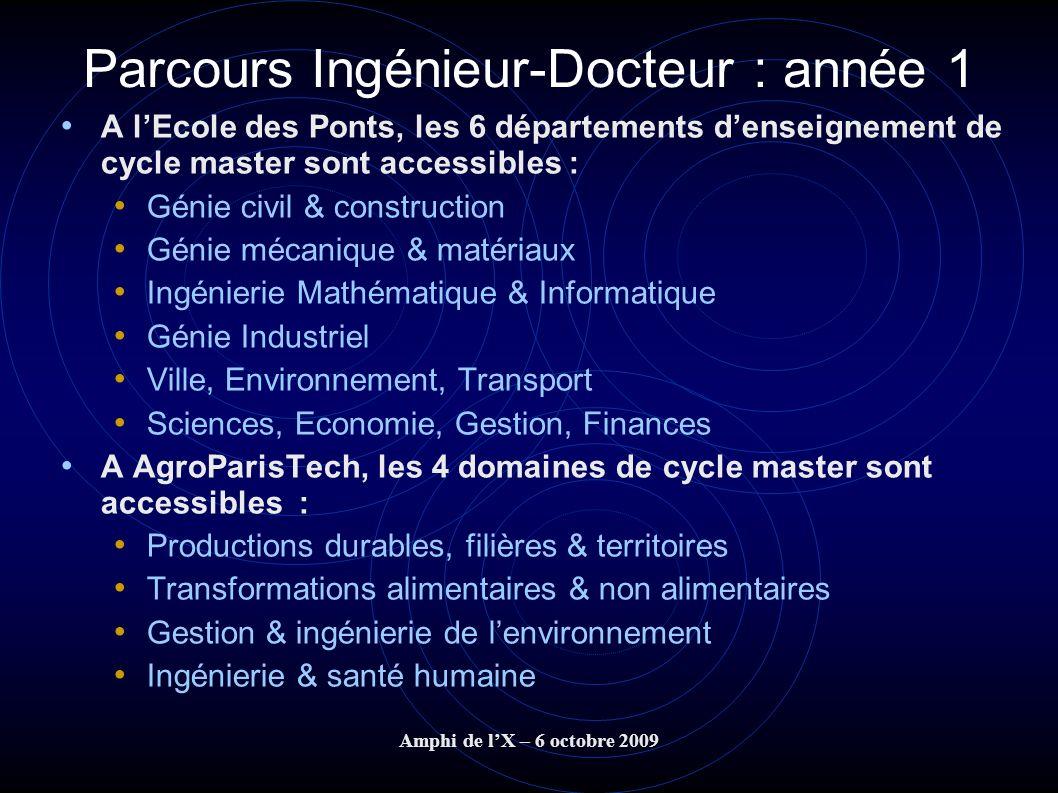 Parcours Ingénieur-Docteur : année 1