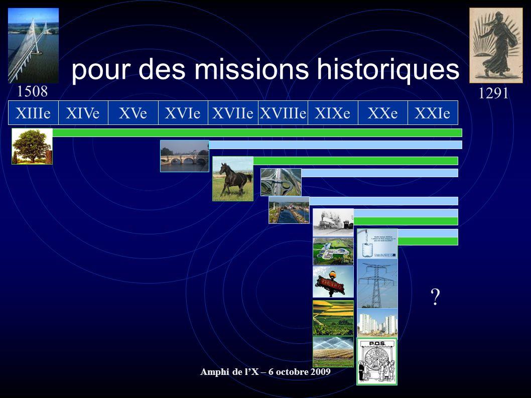 pour des missions historiques