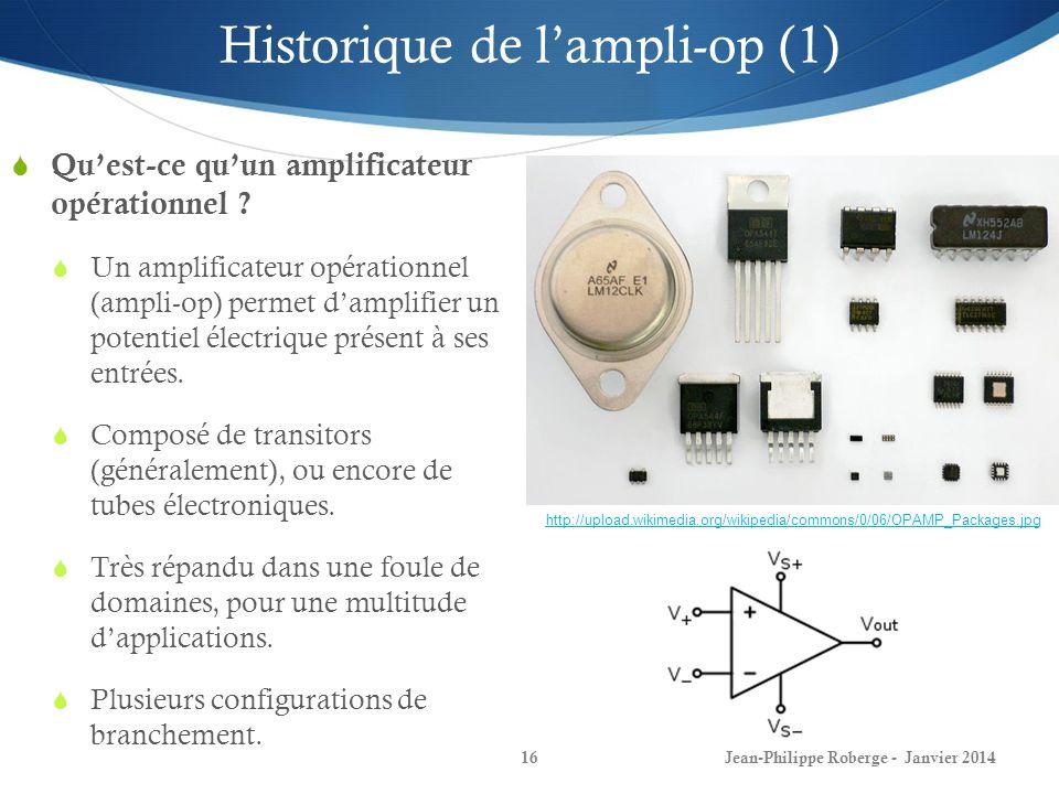 Historique de l'ampli-op (1)