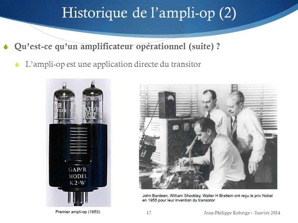 Historique de l'ampli-op (2)