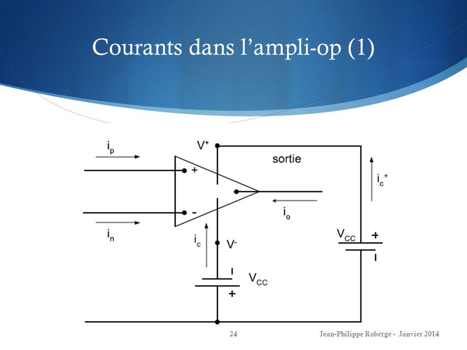 Courants dans l'ampli-op (1)