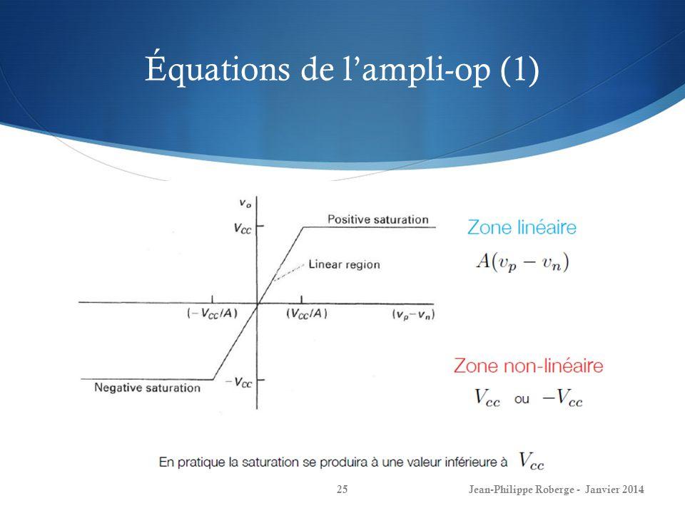 Équations de l'ampli-op (1)