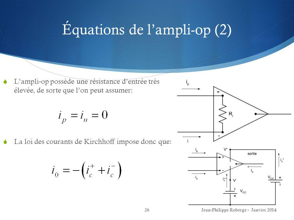 Équations de l'ampli-op (2)