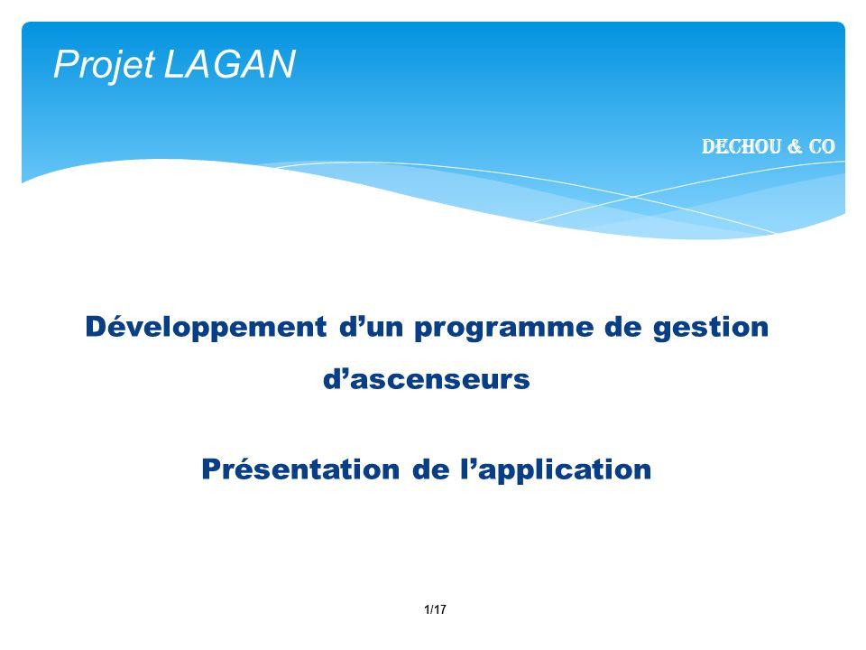 Projet LAGAN Développement d'un programme de gestion d'ascenseurs