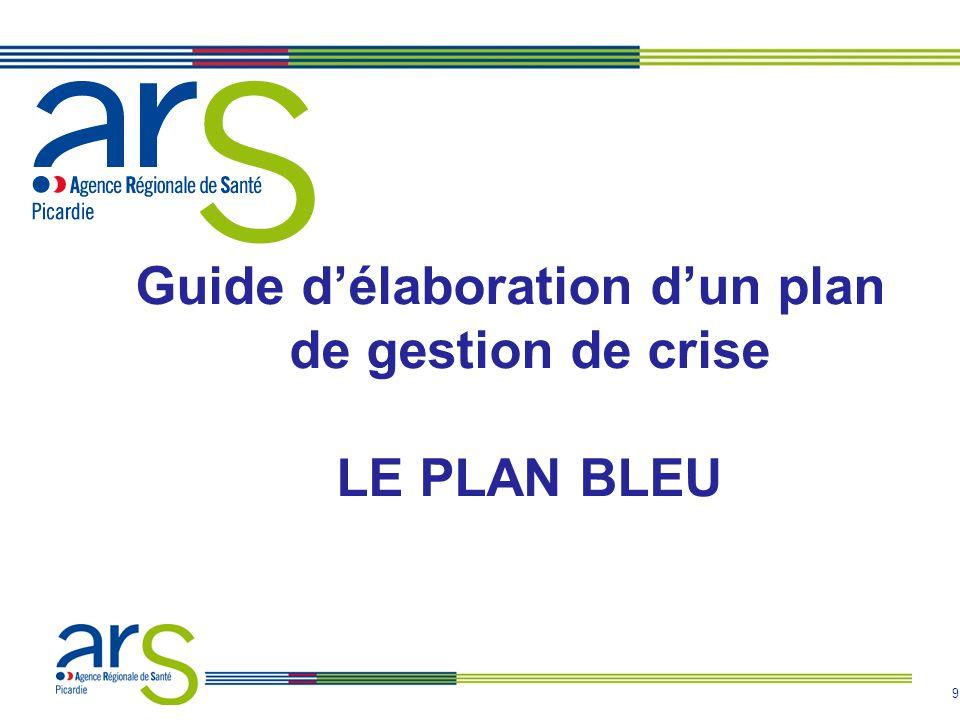 Guide d'élaboration d'un plan de gestion de crise LE PLAN BLEU