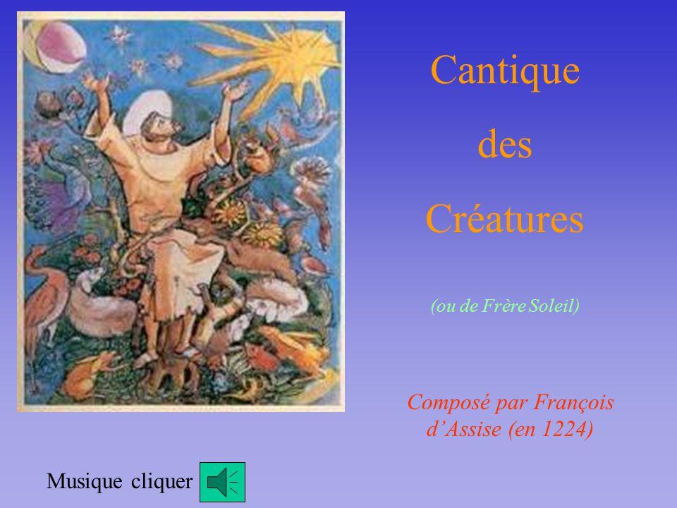 Composé par François d'Assise (en 1224)