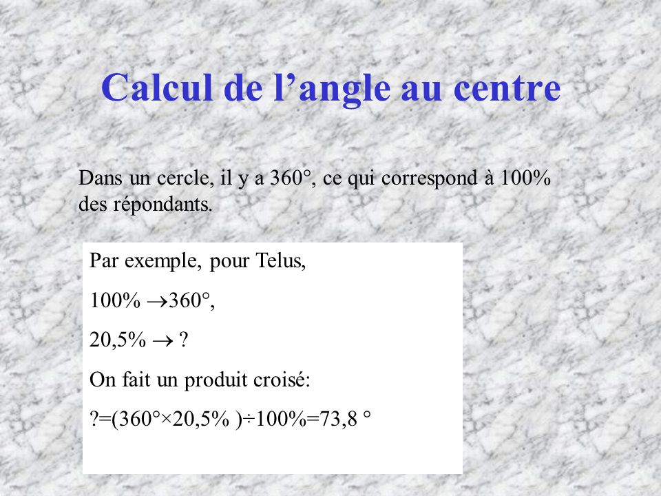 Calcul de l'angle au centre