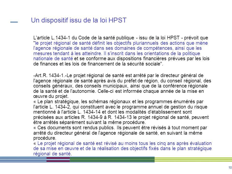 Un dispositif issu de la loi HPST