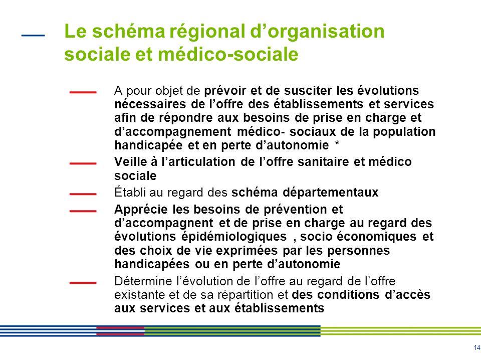 Le schéma régional d'organisation sociale et médico-sociale