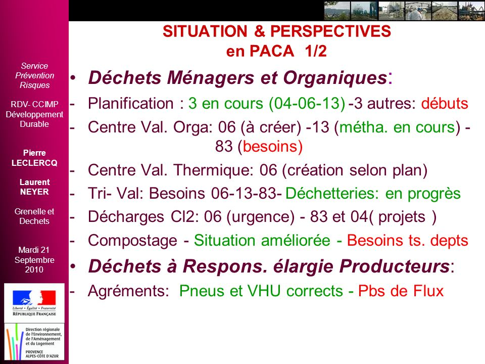 SITUATION & PERSPECTIVES en PACA 1/2