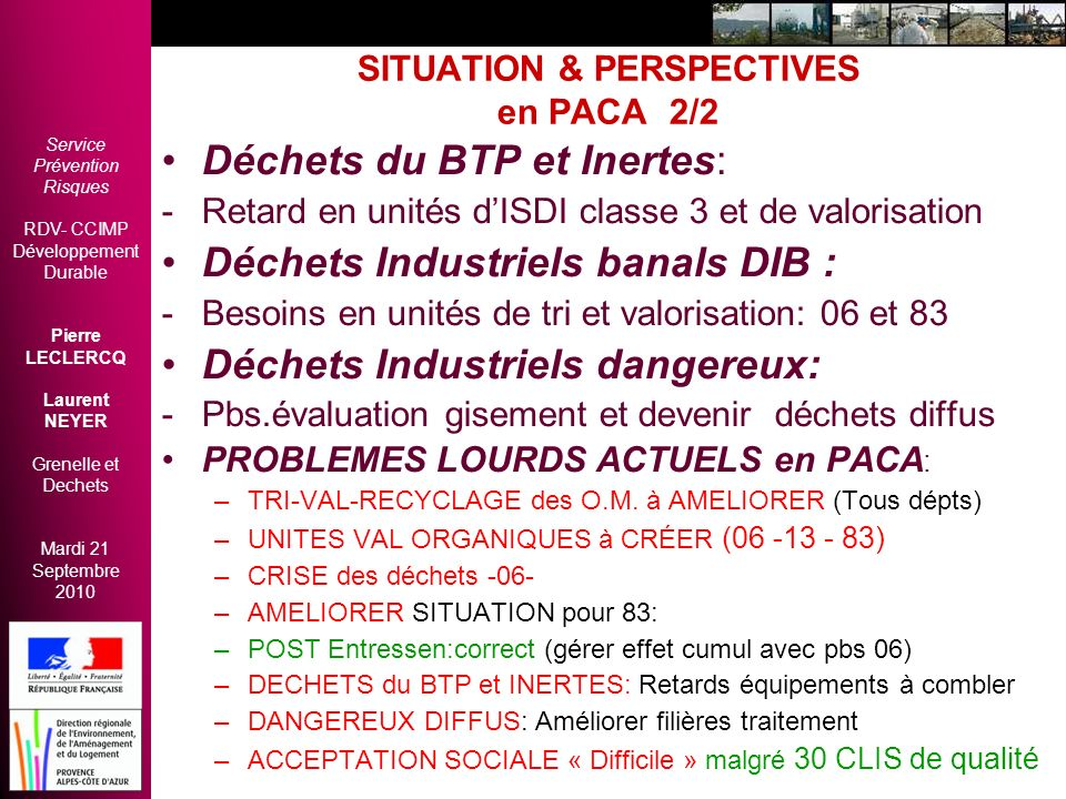 SITUATION & PERSPECTIVES en PACA 2/2