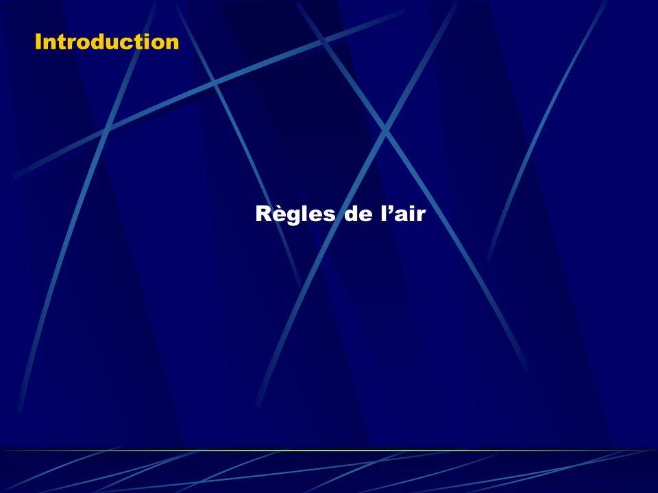 Introduction Règles de l'air (Pré-requis:). Nous étudierons