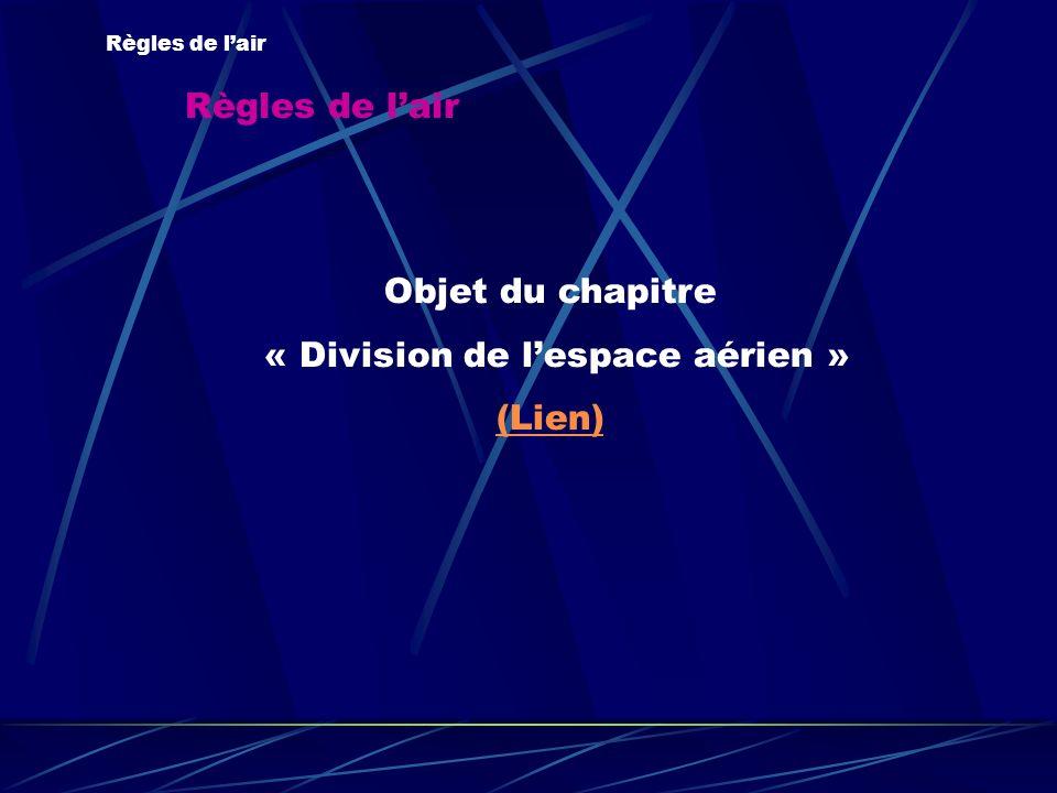 « Division de l'espace aérien »