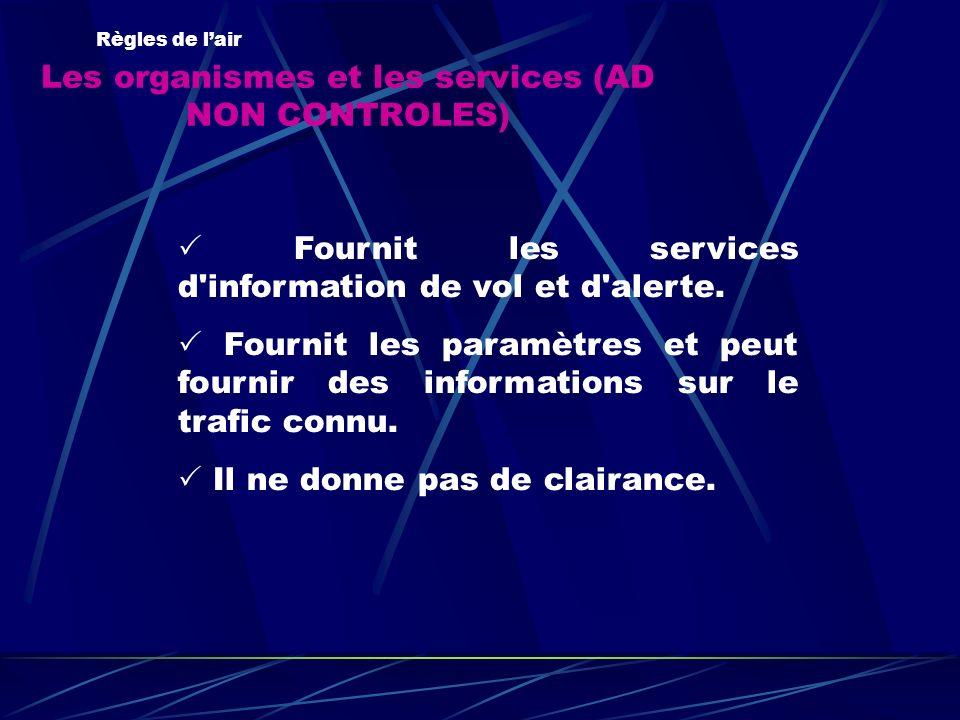 Les organismes et les services (AD NON CONTROLES)