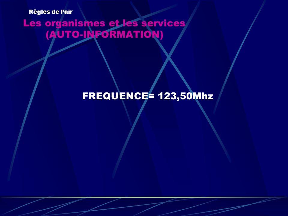 Les organismes et les services (AUTO-INFORMATION)