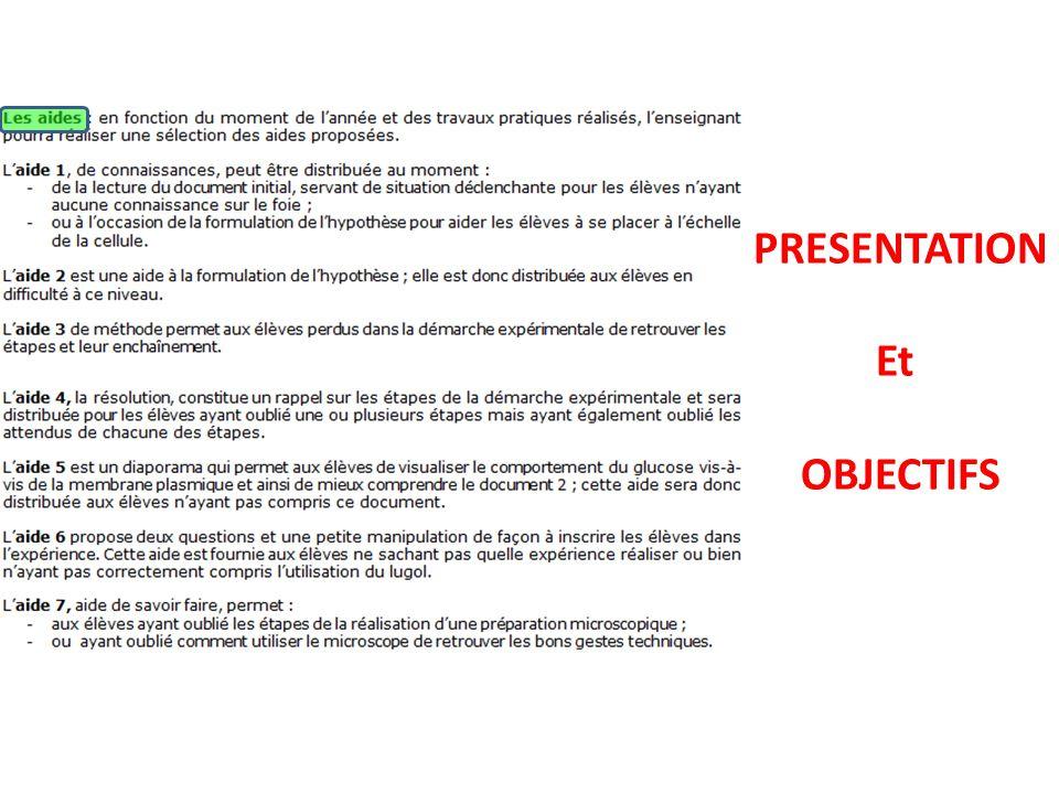 PRESENTATION Et OBJECTIFS