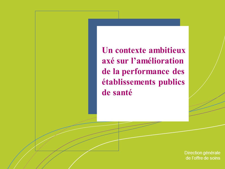 Un contexte ambitieux axé sur l'amélioration de la performance des établissements publics de santé
