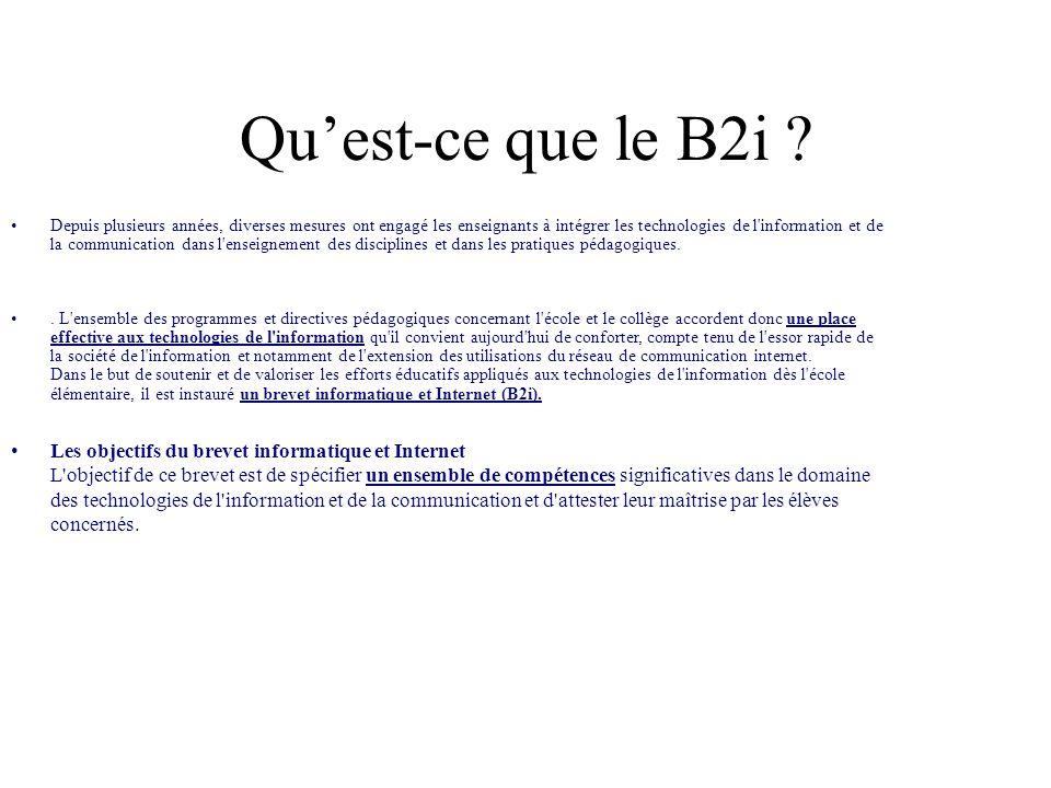 Qu'est-ce que le B2i