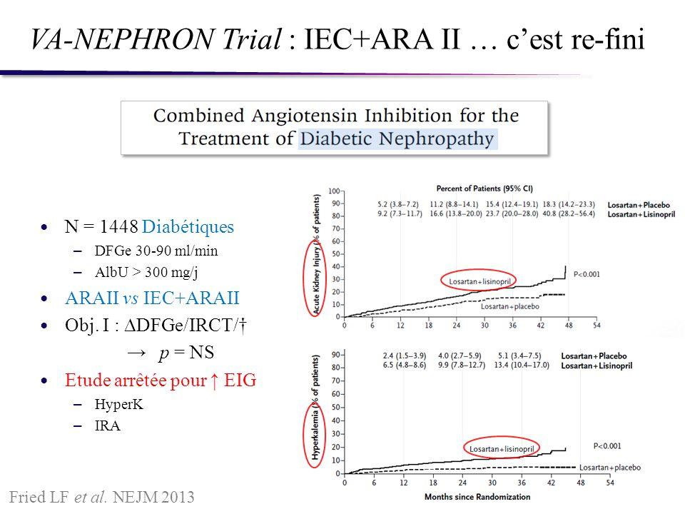 VA-NEPHRON Trial : IEC+ARA II … c'est re-fini