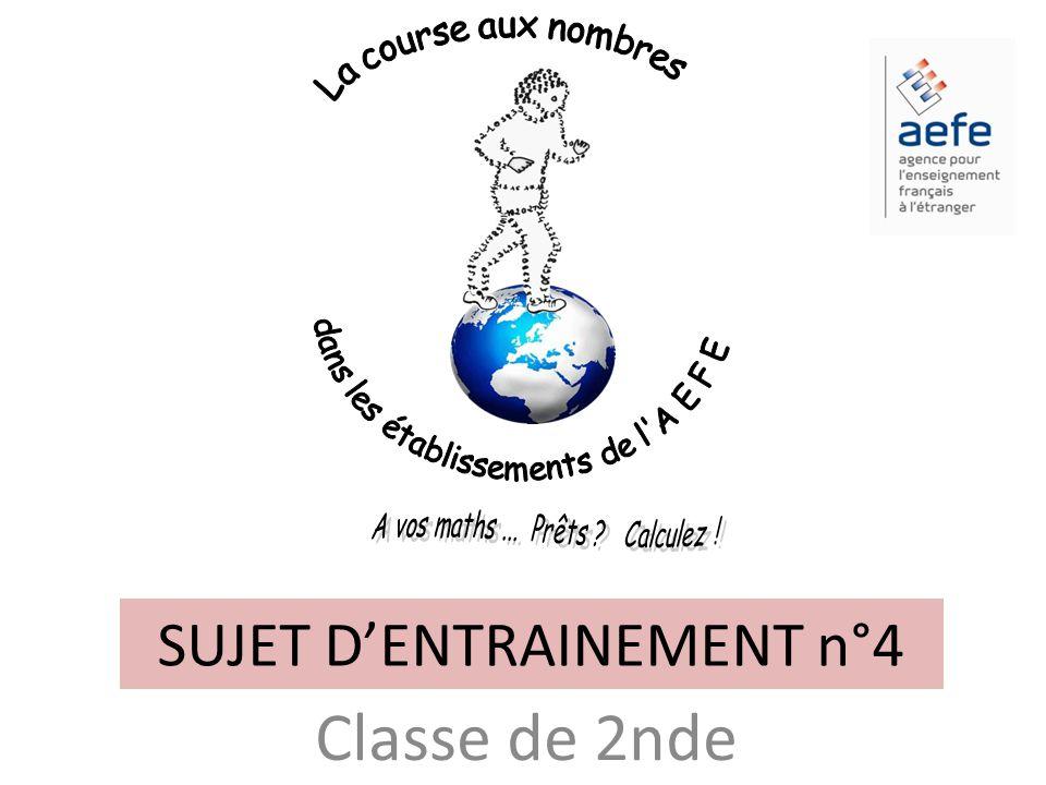 SUJET D'ENTRAINEMENT n°4