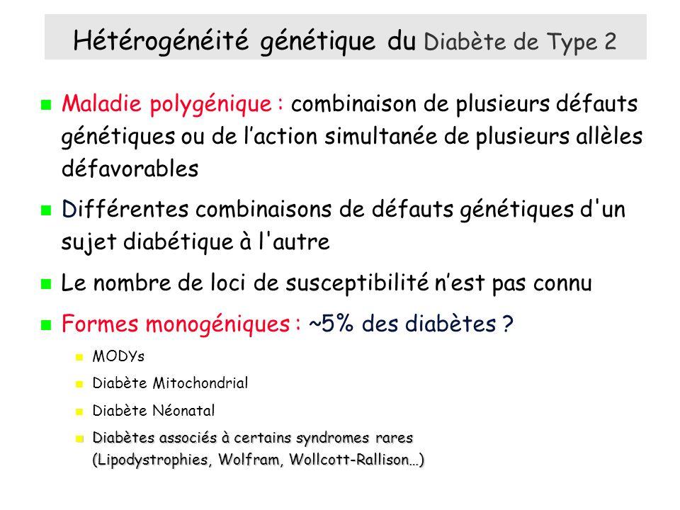 Hétérogénéité génétique du Diabète de Type 2