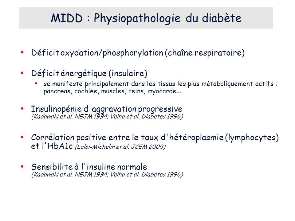 MIDD : Physiopathologie du diabète