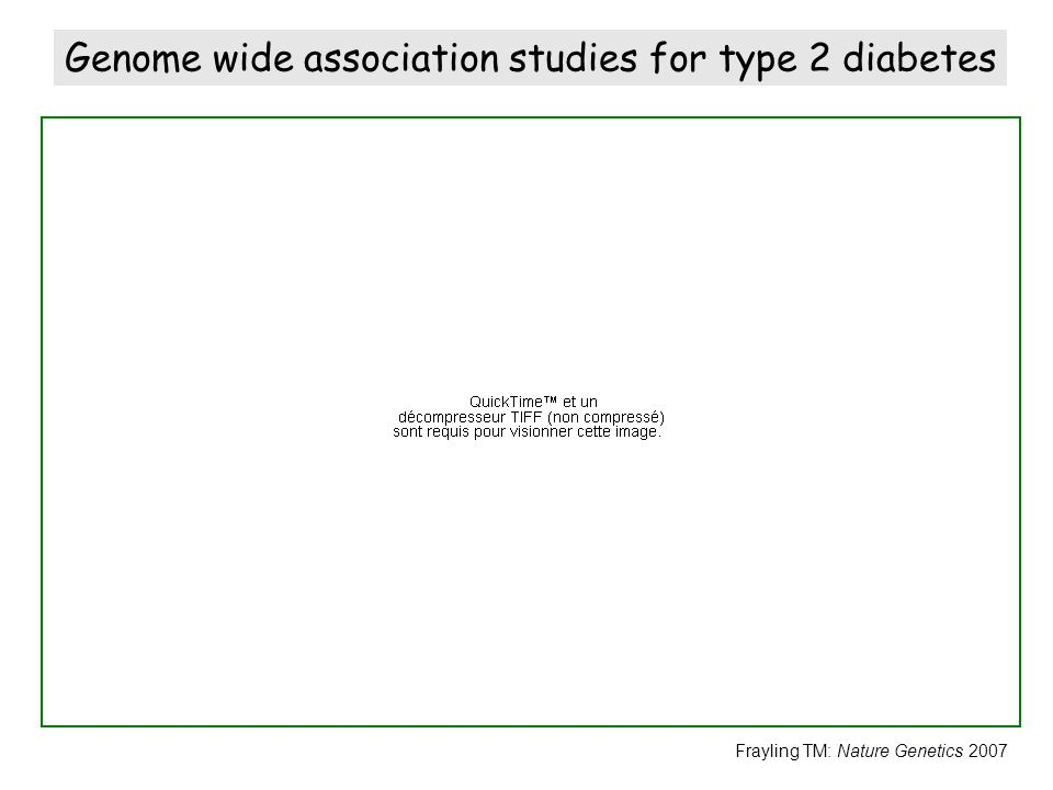 Genome wide association studies for type 2 diabetes