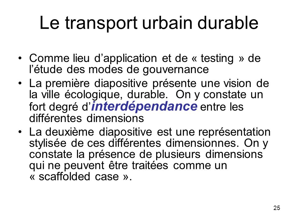 Le transport urbain durable