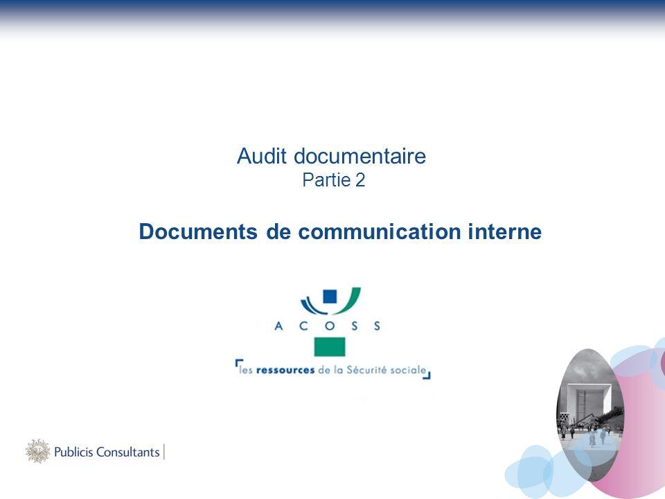 Audit documentaire Partie 2 Documents de communication interne