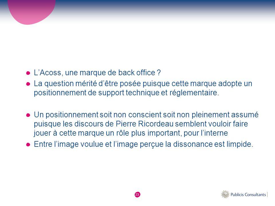 L'Acoss, une marque de back office
