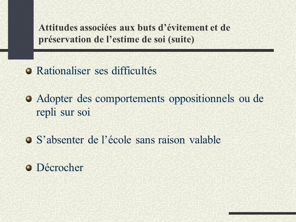 Rationaliser ses difficultés